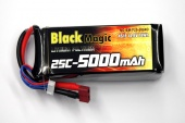 фото аккумулятор black magic lipo 14,8v 5000mah (4s) 25c soft case (deans plug)