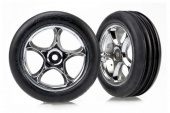 фото Tires & wheels, assembled (Tracer 2.2'' chrome wheels, Alias ribbed 2.2'' ti