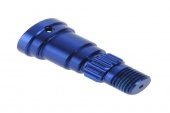 фото Stub axle, aluminum (blue-anodized) (1)