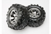 фото Tires & wheels, assembled, glued (Geode chrome wheels, Canyon AT tires, foam inserts) (2) (use w