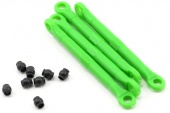 фото Toe link, front & rear, green (molded composite) (green) (4)/ hollow balls (8)