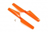 фото Rotor blade set, orange (2)/ 1.6x5mm BCS (2)
