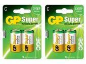 фото батарейки для конструкторов spacerail gp super alkaline c типа (4 шт.)