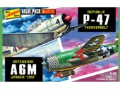 фото Склеиваемая модель HAWK-LINDBERG 1/48 2 pack WWII Adversaries (P-47 Thunderbolt & Japaneze Zero) 1:48